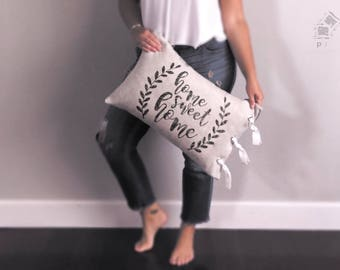 Home Sweet Home, mother's day gift, decorative pillow, wedding gift, housewarming, realtor gift, insert included