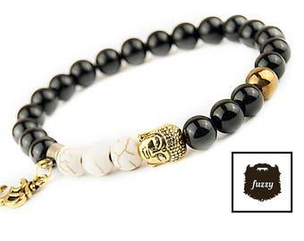 Men beaded bracelet, Men Buddha Bracelet, Yoga, Zen, Men Om Bracelet, Yoga Bracelet, chakra bracelet, Vegan Bracelet, Men Mala bracelet