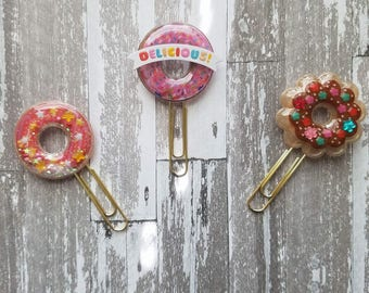 Donuts Planner Paperclips - Bookmarks