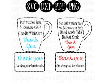 Care card bundle svg, mug care card svg, mug wash care, mug care instructions, print and cut file, svg, care card svg, care card svg file,