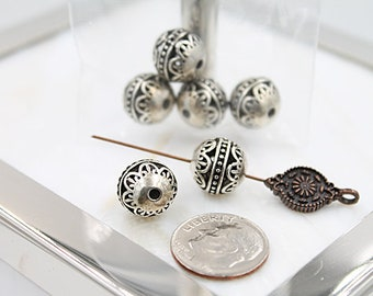 Flower Etched Beads