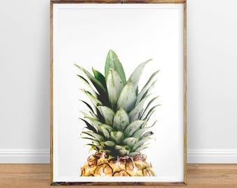 Pineapple Print, Pineapple Wall Art, Pineapple Poster, Tropical Decor, Large Printable Poster, Pineapple Digital Art Instant Download