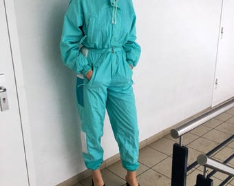 Vintage Ski costume / overall / onsie onepiece jumpsuit romper size S-M.
