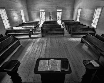 Inside Cades Cove Church