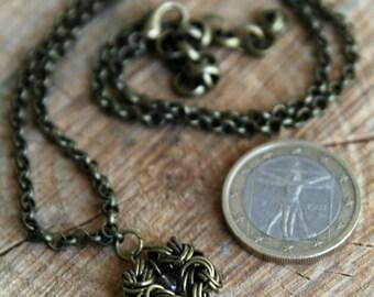 Romanov Anhänger Byzantine mit zwei Perlen aus Bergkristall