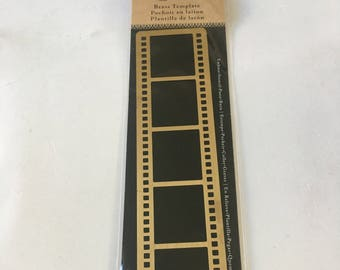 Stencils/ Film Reel / Brass Template / Art-C / Emboss / Paste / Burn Stencils/ Mixed Media / Card Making / Scrapbooking / Arts and Craft