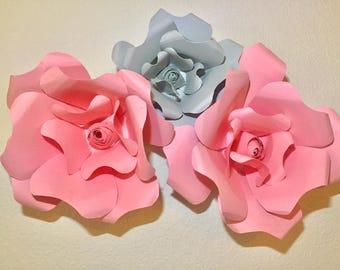 Handmade giant paper flowers- Roses