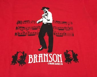 vintage branson missouri large red t shirt 1993 90s country music midwest