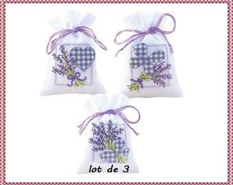 Sachet scents to cross-stitch canvas aida 5.5