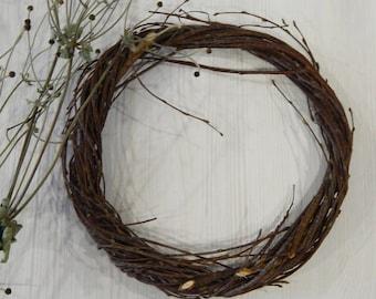 Birch Twig Wreath, Rustic Door Wreath, Branches Wreath Craft, Natural Decor, Forest Craft Supply
