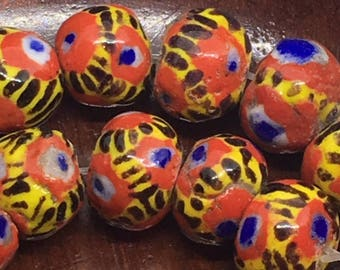 1 Kiffa African Trade Bead , Mauritanian Kiffa African Trade Bead , Rustic African Trade Bead , African Collector Kiffa Beads , 11mm