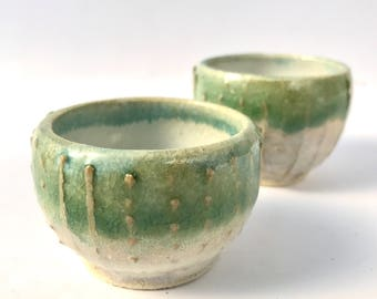 Small Urchin bowls   Set of 2   Wheel Thrown Ceramics   FREE SHIPPING