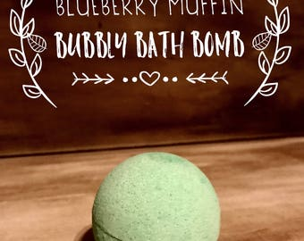 Blueberry muffin bubbly bath bomb