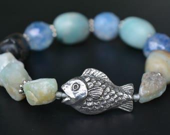 Fish + Amazonite