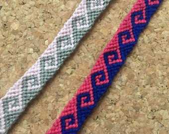 Customizable Greek Wave Friendship Bracelets
