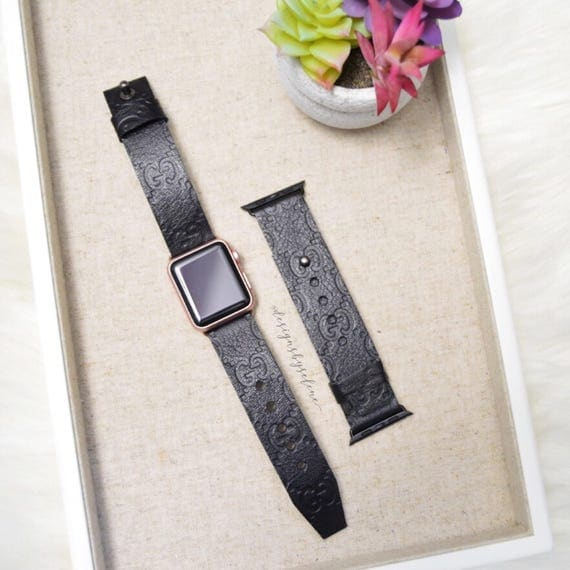 Black Guccissima Apple Watch Strap, 38Mm & 42MM Handmade, Repurpose,Upcycle,Recycle Guccissima