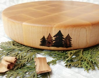 Wooden Handcrafted Butcher's Block / Chopping board / Cutting Board / Serving tray