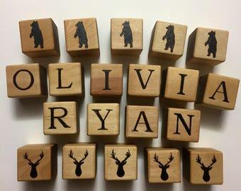 Custom Baby Blocks, Wood Blocks, Baby Name Blocks, Wood Alphabet Blocks, Baby Shower Gift, Personalized Blocks, Baby Gift, Wood Baby Blocks,