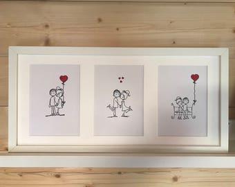 valentines triptych picture