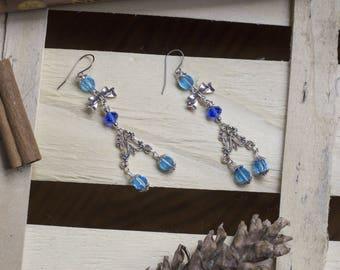 """cute pair of earrings """"mermaidtype"""" Mermaid - Princess - girly - kawaii - magic - sea - fairy"""