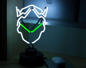 Overwatch Genji Neon Light  - Gaming Decor. Blizzard Fanfare + Videogame gift / geeky gift - Cyber Ninja