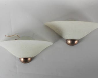 Pair of Textured Glass Wall Sconces