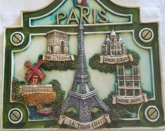 Paris Wall Decor Plaque