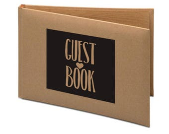 Kraft Wedding Guest Book