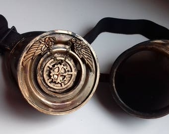 """Pair of """"angel"""" steampunk goggles"""