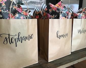 Custom gift bag | Handmade | Name Bags | Personalized | Custom | Craft Bag | Wedding Bag | Bridesmaid