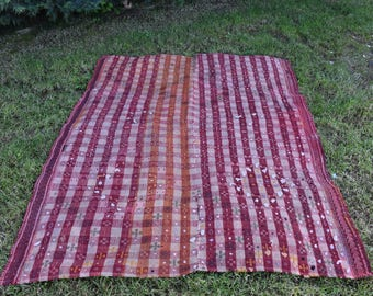 Anatolian Very Rare Kilim Rug 4.3 x 6.1 feet Nomadic Kilim Rug Free Shipping Vegetable dyed Boho Decor Embroidery Decoreative Rug DC833