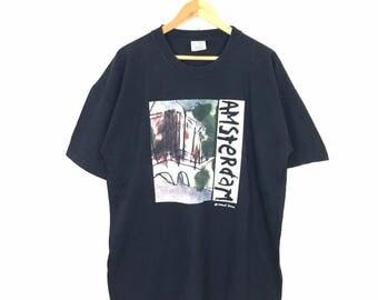 Rare!! Vintage Amsterdam Pop Rock Band T Shirt Size XL