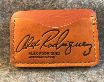 Repurposed Baseball Glove Leather Minimalist Wallet/Card Holder