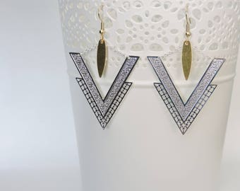 Surgical steel, engraving and tassel earrings