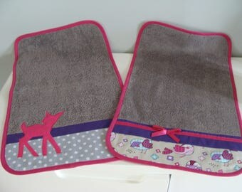 Diapers for Baby Pink Purple and gray