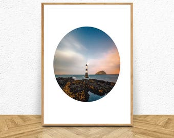 Lighthouse Print, Lighthouse Photography, Lighthouse Art, Lighthouse Wall Decor, Lighthouse Poster, Lighthouse Wall Art, Digital Download