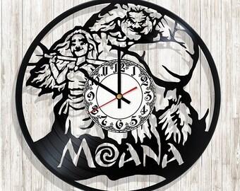 Moana wall clock with original design, Moana wall poster