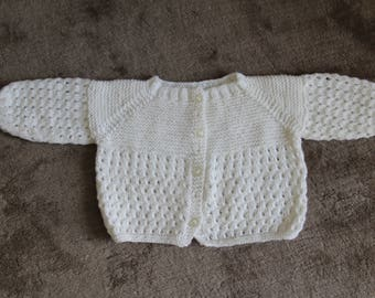 White Cardigan for children/old vintage dating to the 1950/1960