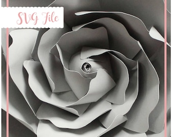 SVG Flower Center Template, Center of the Rose, Paper Flower Template, Rose template, Cricut and Silhouette Ready