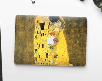 "Macbook Pro cover Gustav Klimt ""The Kiss"" Macbook Pro 13 cover Macbook Pro 15 cover Macbook 12 cover Macbook 2018 cover. Macbook Air cover."