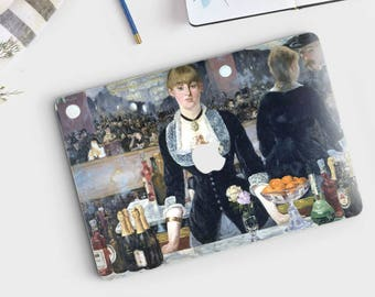 "Edouard Manet, ""A Bar at the Folies Bergeres"". Macbook Pro 15 decal, Macbook Pro 13 decal, Macbook 12 decal. Macbook Air decal."