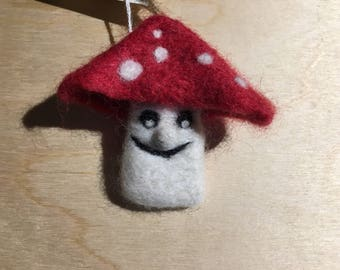 Fun guy needle felted fungi/mushroom brooch