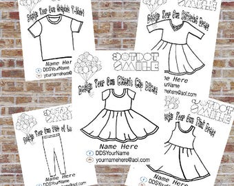 Design a Dress Coloring Page, Choose your Package, DotDotSmile, Marketing