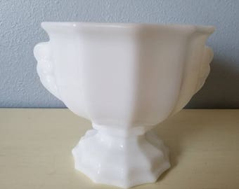 EO BROODY milk glass planter