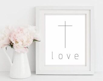 Wall Art, Art Print, Printable Art, Black and White,Christian Wall Art,Digital Prints, Home Decor,Gift For Her, Gift For Mom, Christmas Gift