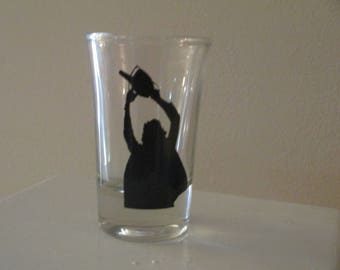 Leatherface Shot Glass Texas Chainsaw Massacre Horror Halloween Drinking Bar Gift for Him Her Merch Massacre