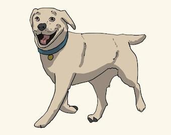 Labrador Greetings card: Blank