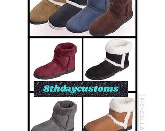 Booties with Boot cuffs