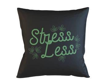 "Less Stress Relax Chill Pillowcase 40x40 cm (16""x16"") Sofa Bed Home Décor Cushion Cover"
