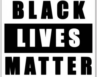 "BLACK LIVES MATTER  3"" Weatherproof Sticker"